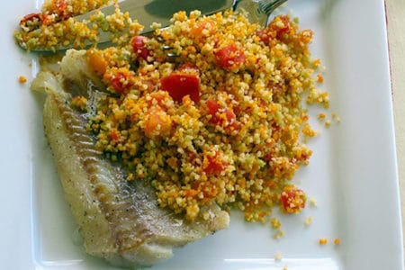 Wild Caught Cod with Moroccan Couscous