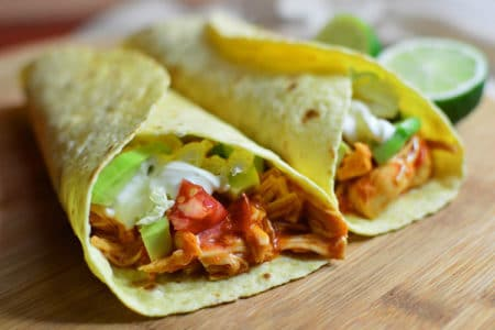 Easy 3-Ingredient Chicken Tacos