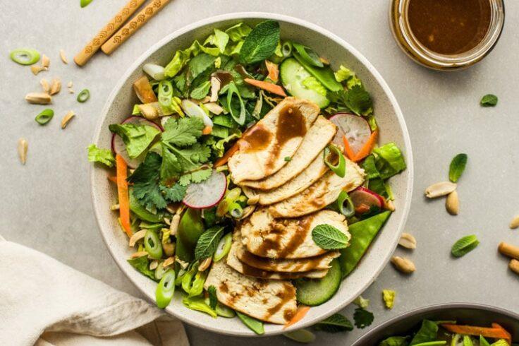 thai chicken veggie salad