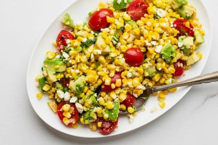 Elote Tomato Avocado Salad