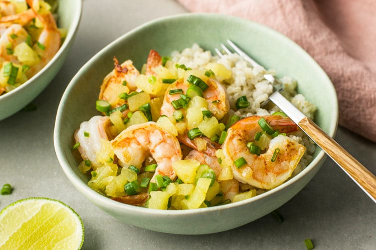 Pineapple Honey Shrimp Taco Bowl
