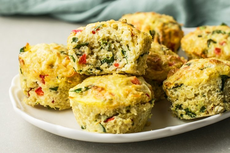 quinoa and egg protein breakfast bites healthy recipe