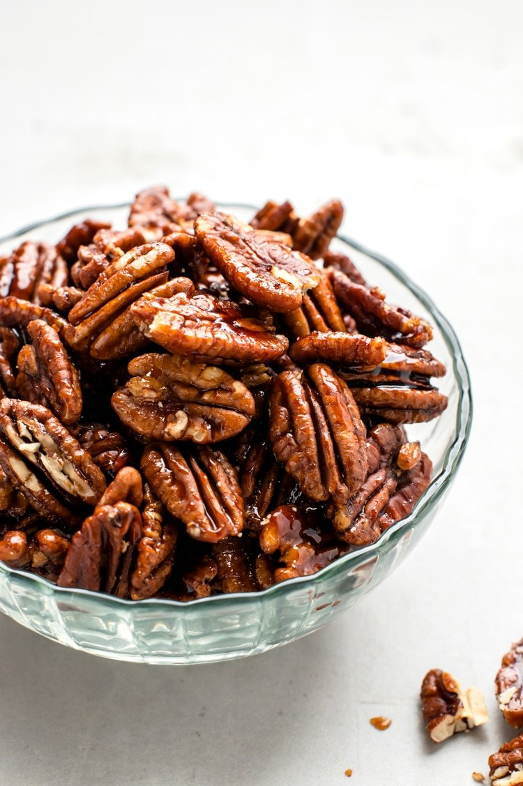 Roast these buttery pecans until they are warm, fragrant, and slightly toasty
