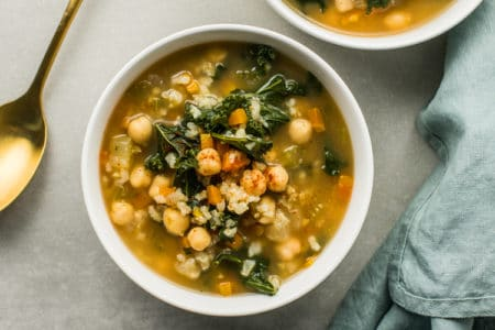 Slow Cooker Chickpea and Vegetable Soup