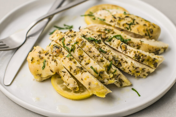 Slow cooker greek lemon chicken is a super easy, stress-free meal!