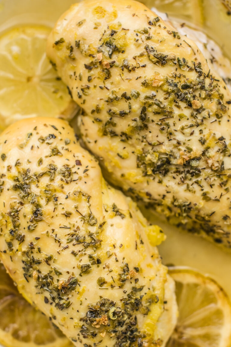 Our slow cooker greek lemon chicken is loaded with flavor but not calories!