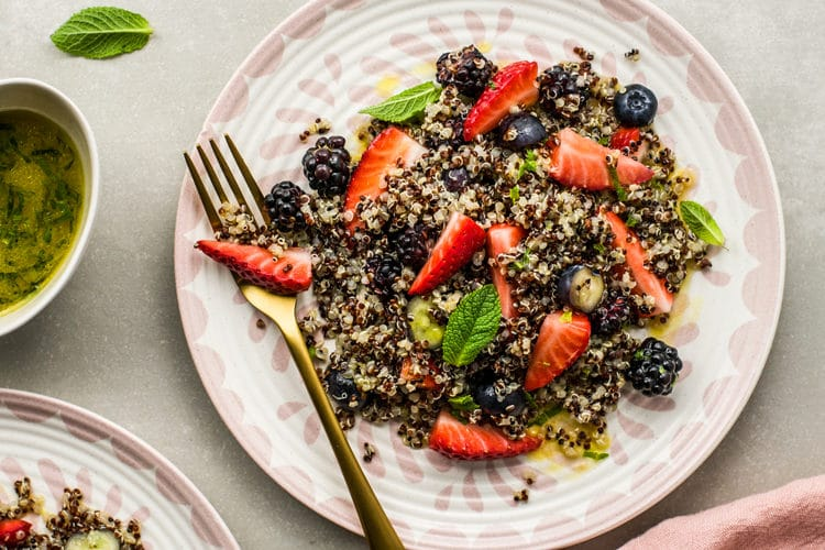 summer fruit quinoa salad
