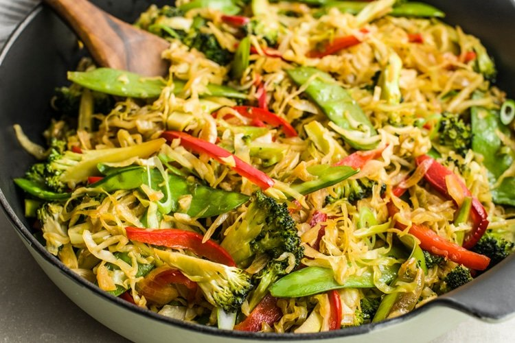 A must-try vegetable eggroll skillet the whole family will love!