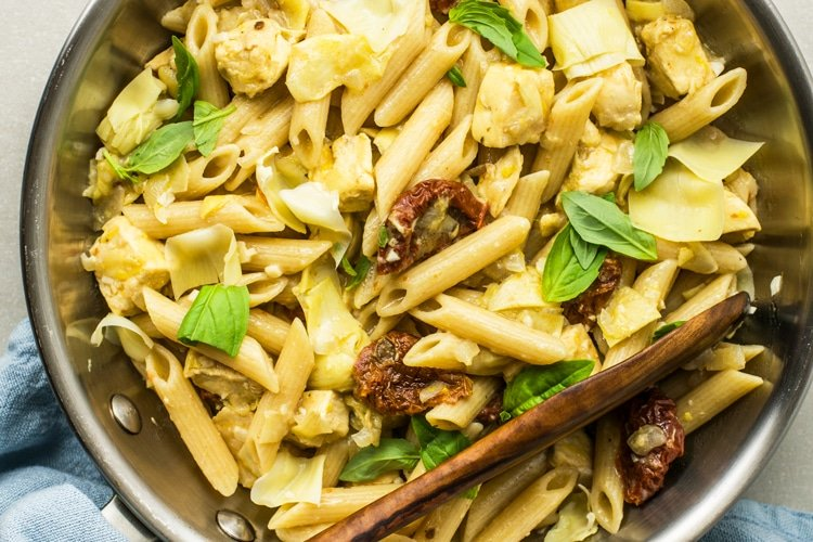 One-Pot Chicken Artichoke Penne