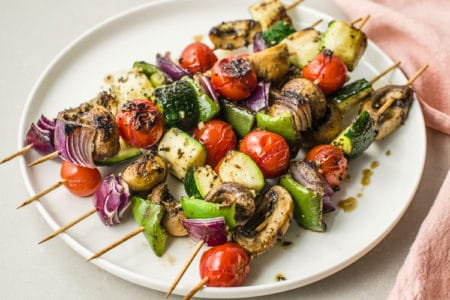 Quick and Easy Roasted Veggie Kebabs