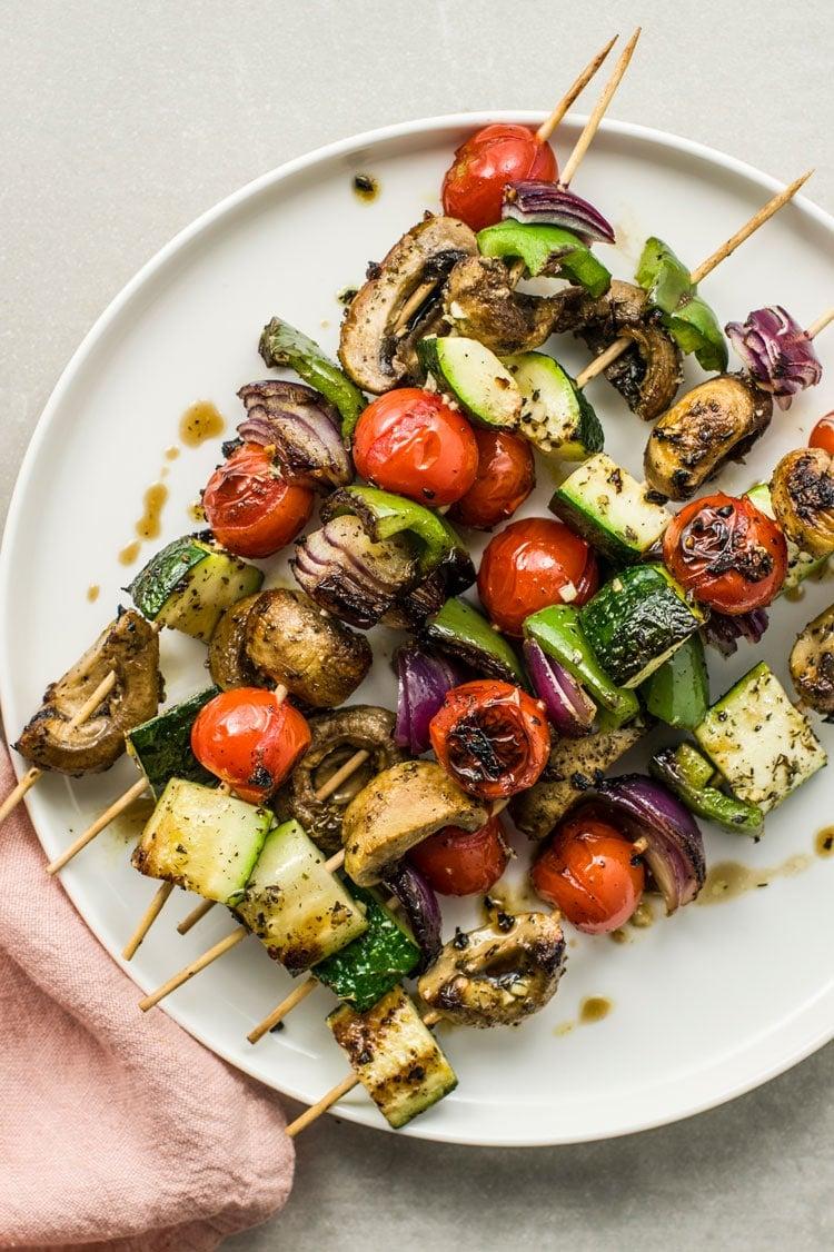 Roasted Veggie Kebabs