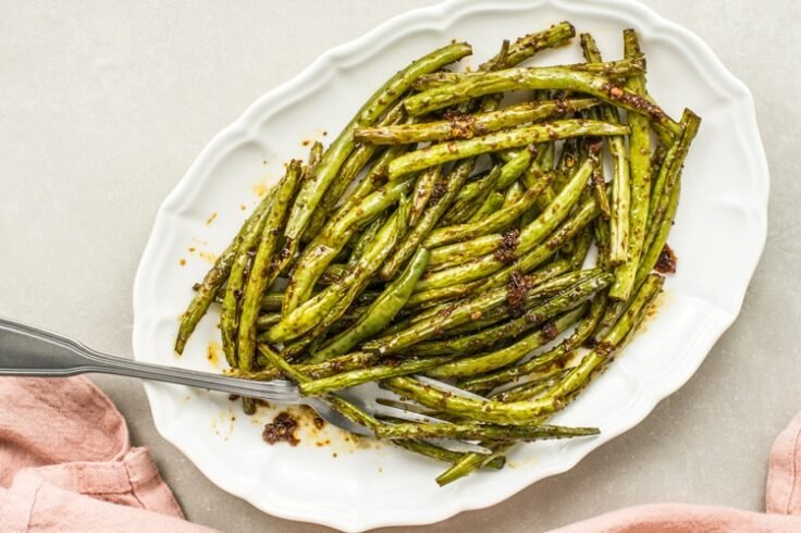 spicy broiled green beans