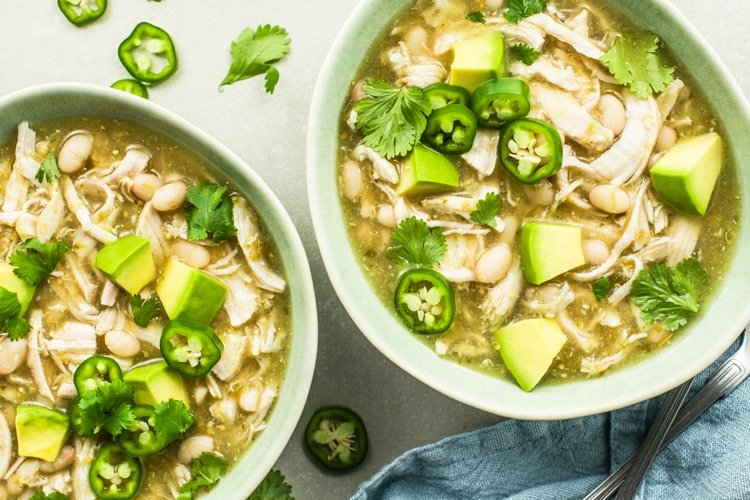 31 Days of Delicious and Nutritious Weight Watchers Dinner Recipes Slow Cooker Chicken Chili Verde