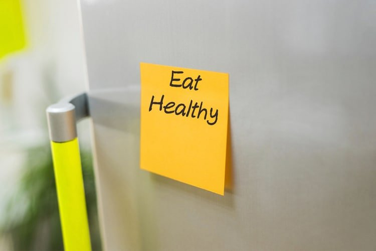 post a note to remind yourself to eat healthy