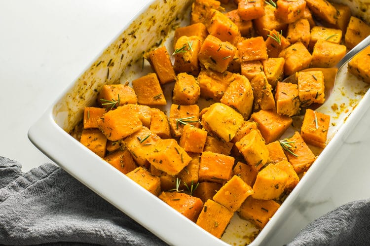 The citrusy, aromatic flavors elevate these sweet potatoes perfectly.