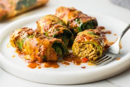Low-Carb Stuffed Cabbage Enchiladas