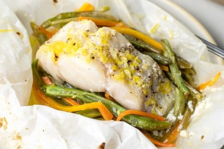 Light & Elegant White Fish and Vegetables