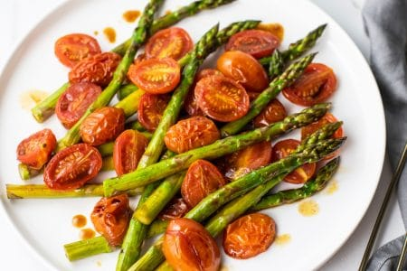 Sometimes a Simple, Well-Balanced, and Elegant Side, like Balsamic Asparagus and Blistered Tomatoes is All You Need