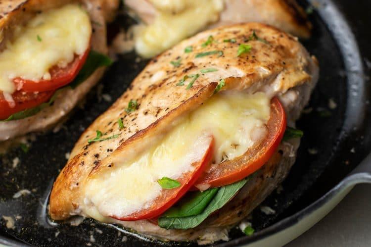 caprese stuffed chicken breast