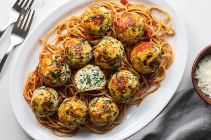 Oh-So-Delicious Cheesy and Garlic-Rich Chicken Florentine Meatballs
