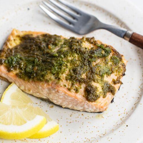Easy Pesto Salmon