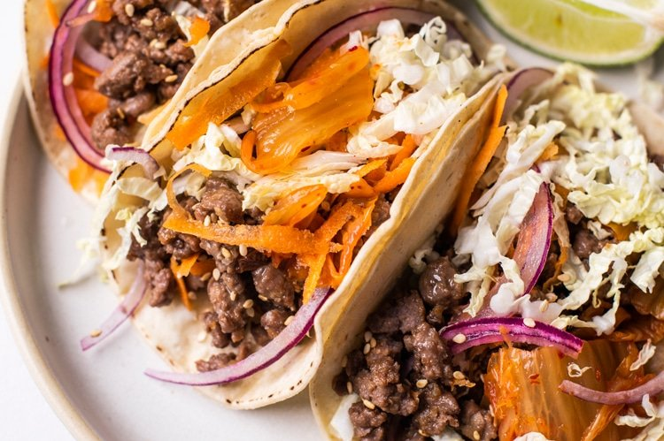 Kick up the heat with these deliciously spicy Korean tacos!