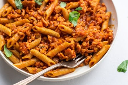 Satisfy Your Comfort Food Cravings with Our Healthy and Delicious Turkey Basil Ragu Recipe