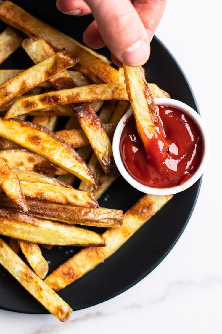 Skillet fries are crispier than over fries and just as healthy.