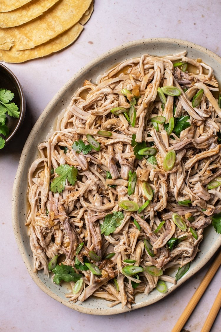 Healthy Teriyaki Slow Cooker Roasted Pulled Pork