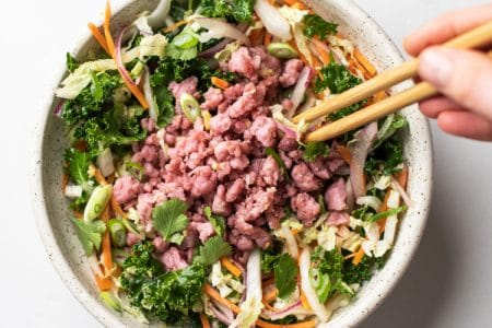 Egg Roll Salad with Asian Style Dressing