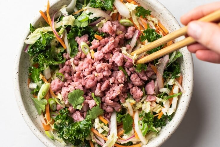 eggroll salad with asian-style dressing