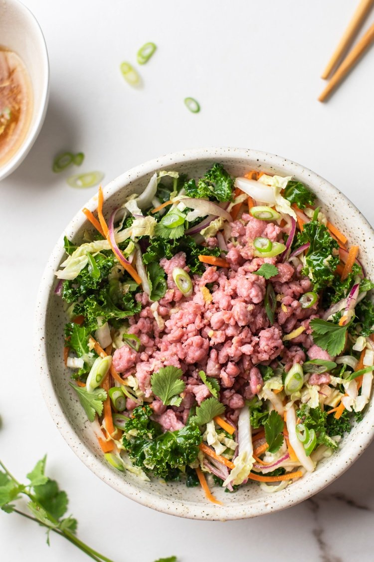 You've Never Tried an Asian Salad Quite Like this Eggroll Salad with Asian Style Dressing