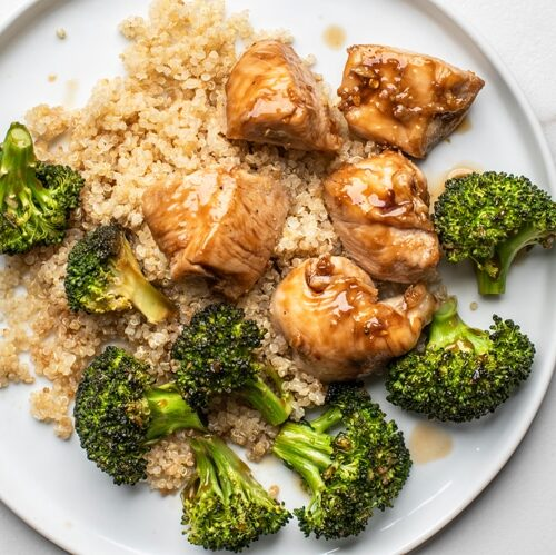 one pan general tso's chicken with broccoli  skinny ms