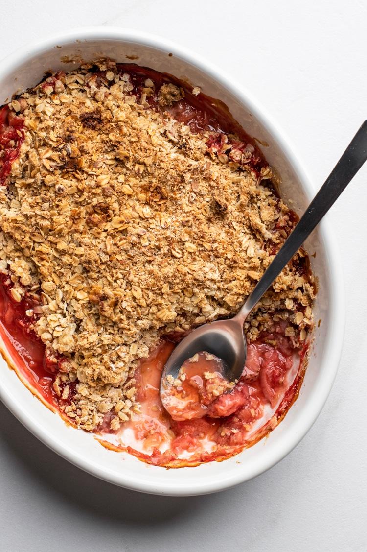 Best Ever Strawberry Rhubarb Crisp
