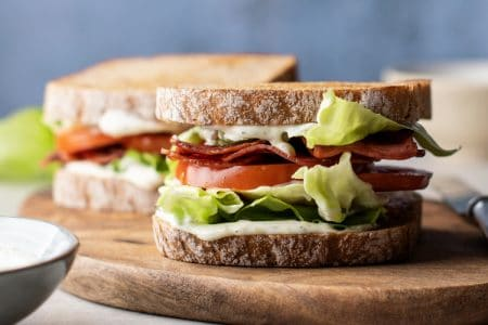 Ultimate Skinny BLT with Dill Mayo