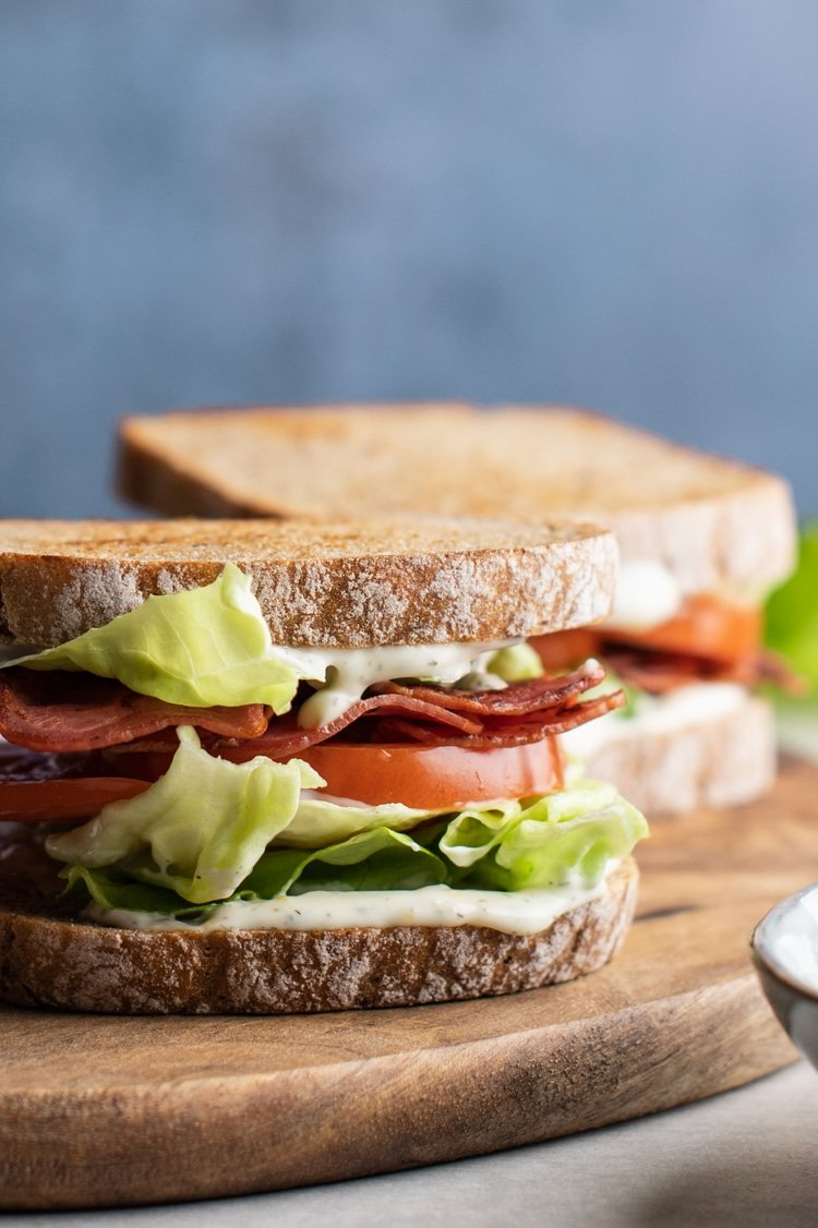 Try this Ultimate Skinny BLT with Dill Mayo for a Super Yummy, No-Guilt Lunch