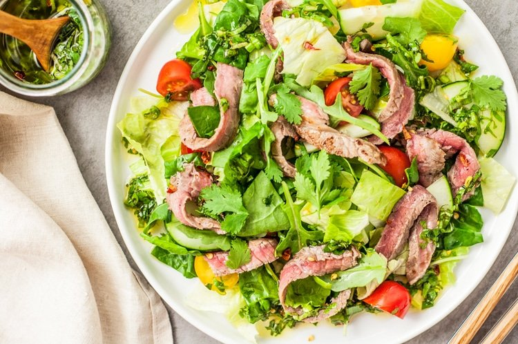 Add extra protein like steak, shrimp or chicken to give your salad that extra healthy kick!