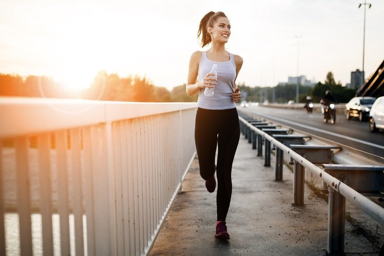 Run on the balls of your feet, not your heels to keep good running form.