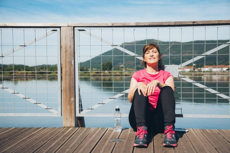 Take a rest after your jog to recuperate between workouts
