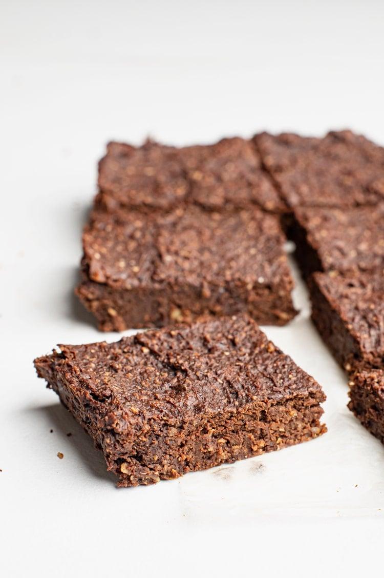 This gooey Indulgent sweet potato fudge brownie is a crowd-pleaser and guilt-free, healthy dessert alternative.