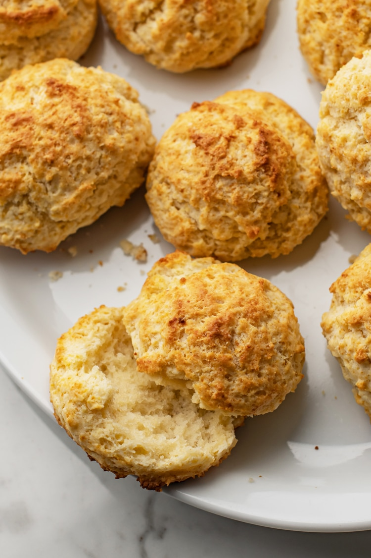 These delicious homemade, flaky, and buttery drop biscuits will be devoured come dinner time!