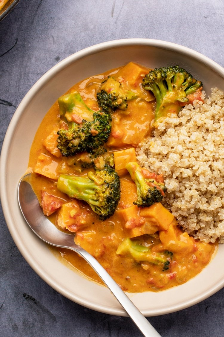 Short on Time? You Can Make this Easy Vegan Coconut Curry in as Little as 30 Minutes!