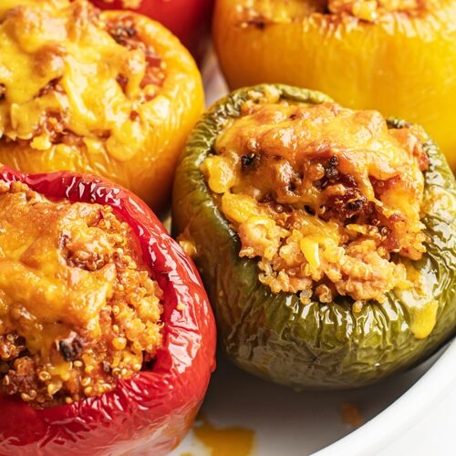 These Effortless 5-Ingredient Stuffed Peppers make a Great Budget-Friendly Meal
