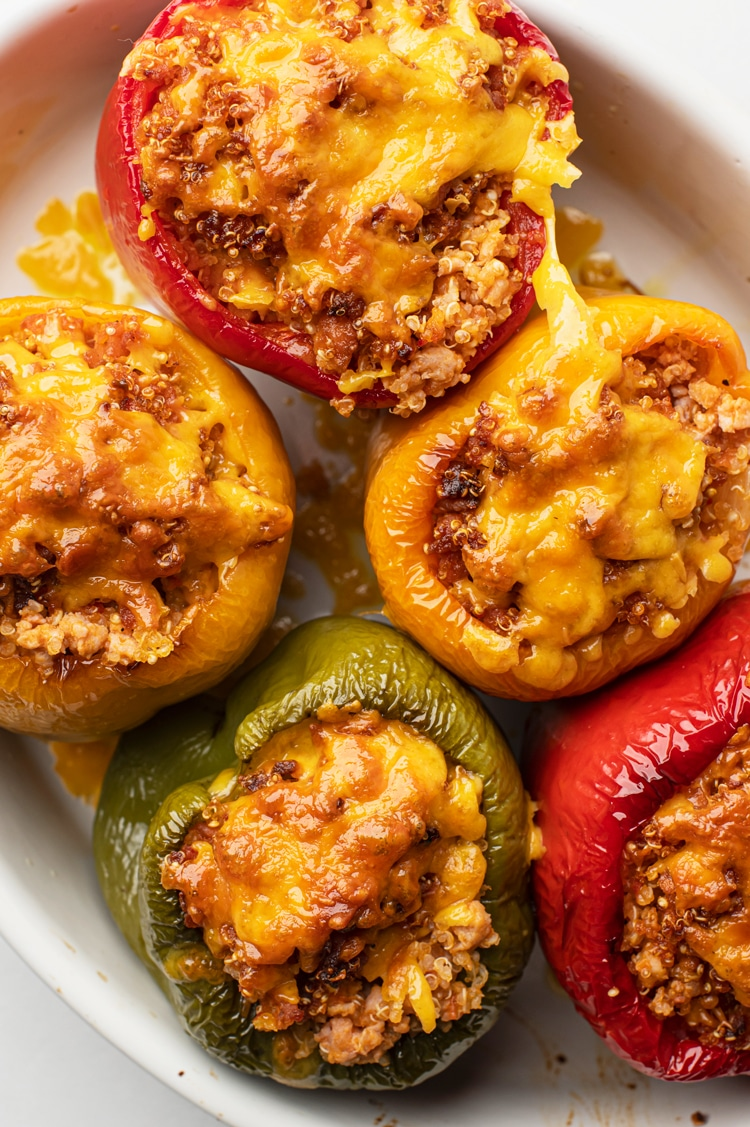 These easy stuffed peppers are loaded with flavor and nutrients!