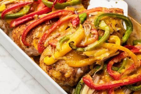 Simple and Delicious Fajita Chicken Bake