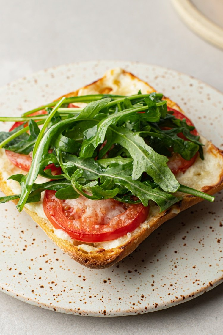 This Open-Faced Toast is will blow your taste buds away with its savory sweet tomato and parmesan flavors