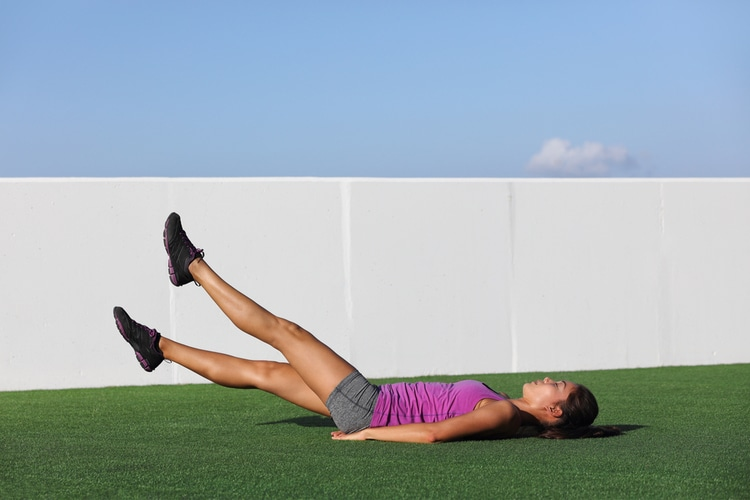Flutter Kicks are perfect for shredding your lower ab exercises. Push through!
