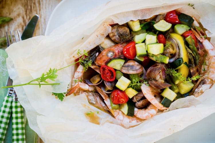 A seafood recipe that is full of fish, clams, shrimp, and so much more!