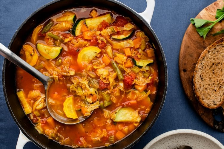 Our Cabbage Garlic Veggie Soup is just as nutritious as it is delicious! Just try it and see!