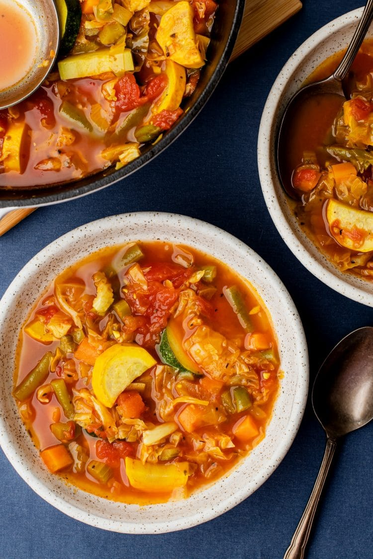This is a great soup for dinner, but makes an excellent healthy lunch the next day too!